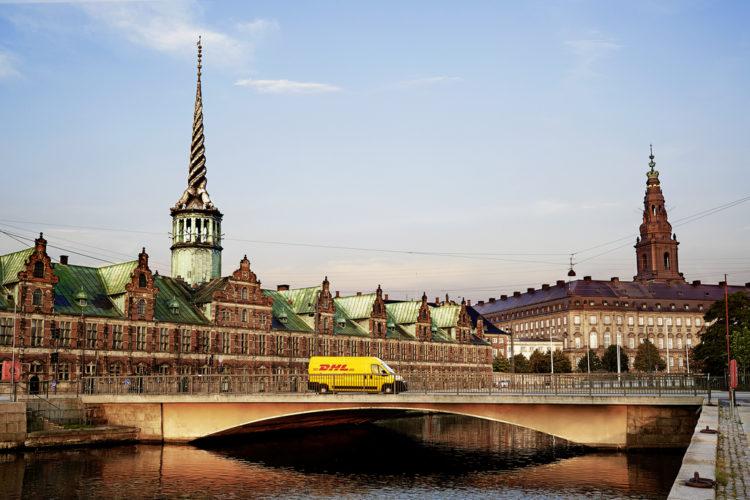 DHL Express van in Copenhagen